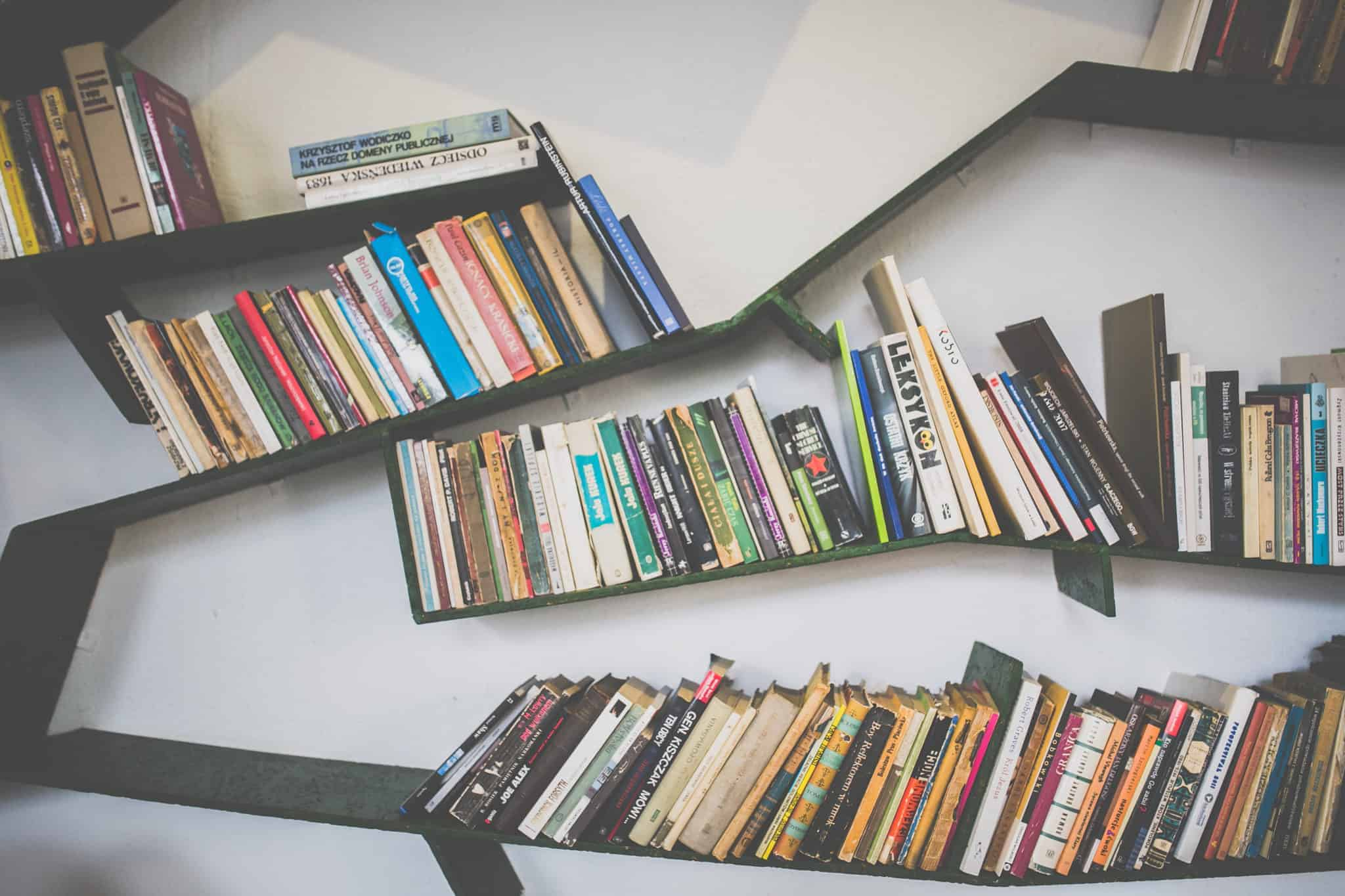 abstract bookshelf