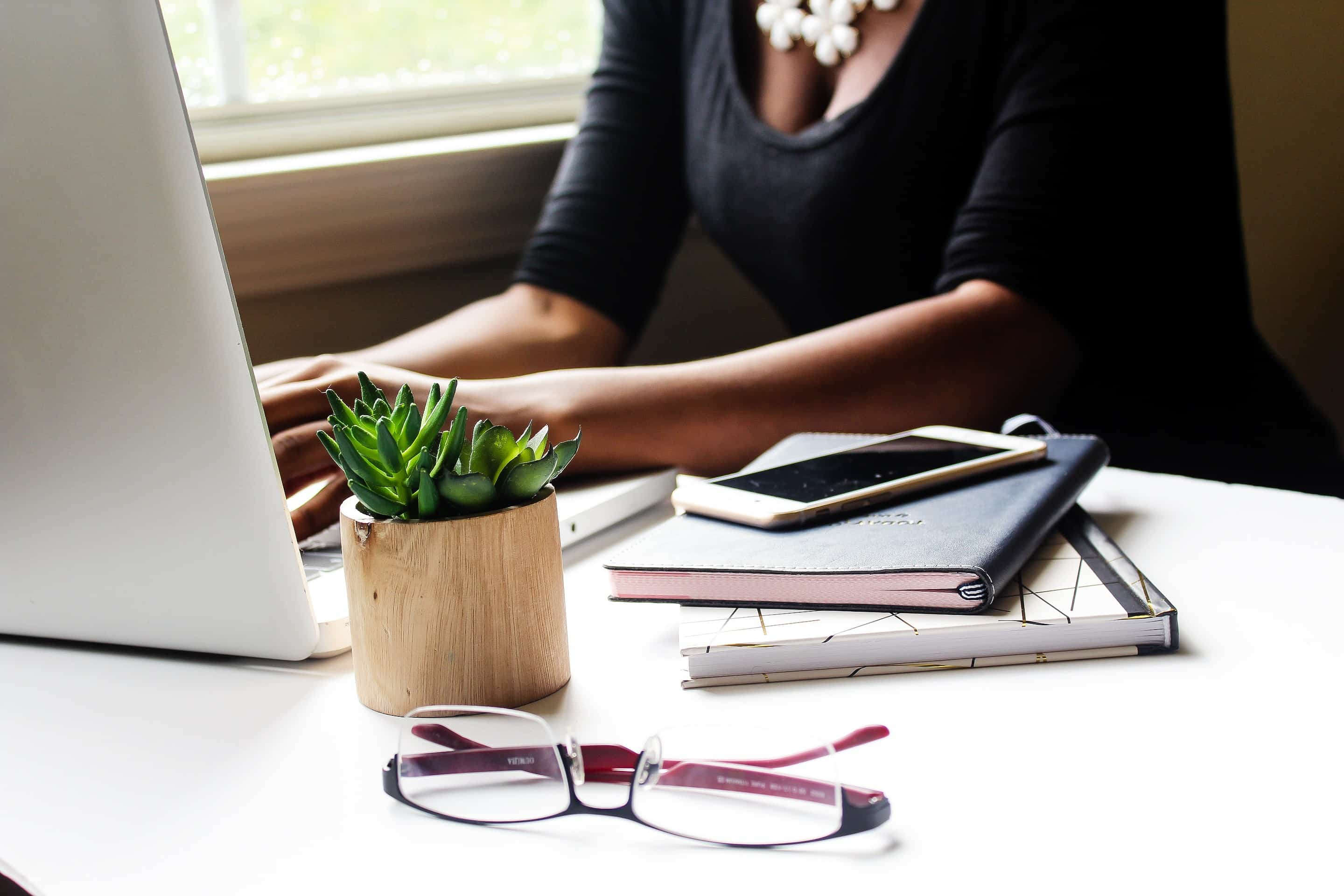 Solopreneur working from home